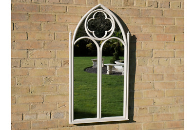 £69.99 • Buy Gothic Style White Arch Mirror Decorative Outdoor Rustic Wall Mirror 6670