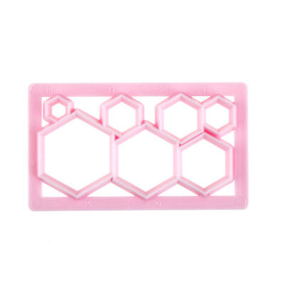 Hexagon Shape Plastic Cookie Cutter Cake Fondant Mold Cake Decorating Tools  Xe • 5.32£