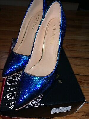$25 • Buy Liliana High Heel Party Shoes Used Size 9 Comfortable Green Hologram