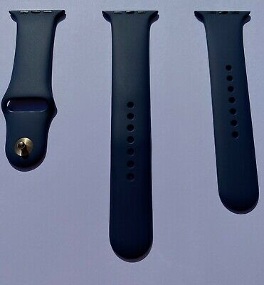$ CDN80.16 • Buy Apple Watch Midnight Blue Sport Band With Gold Pin Series 0 1 2 3 42mm 4 5 44mm