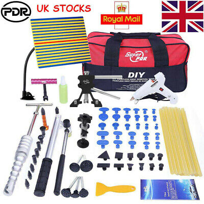 90pc PDR Tools Paintless Hail Removal Dent Puller Lifter T Bar Hammer Line Board • 59.68£