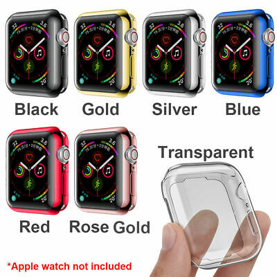 $ CDN5.16 • Buy For Apple Watch Series 3 4 5 Full Body TPU Case Cover Screen Protector 40mm 44mm