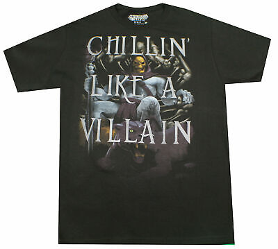 $14.99 • Buy Masters Of The Universe Chillin Like A Villain T-shirt Black Retro Mens Tee New
