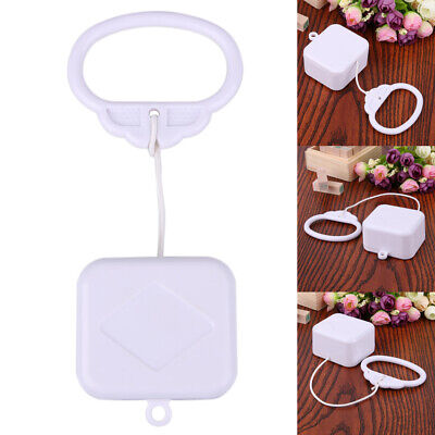 Pull String Cord Music Box White Baby Infant Kids Bed Bell Rattle Toy Gift UK • 3.49£