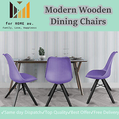 AU64.95 • Buy Modern Wooden Office Living Dining Chairs Set Of 2 Upholstered Side Chair .Pup