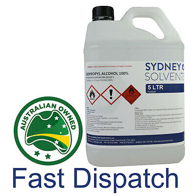 AU35 • Buy IsoPropyl Alcohol IPA Isopropanol 100% 5 Litre 5L With 250ml Empty Spray Bottle