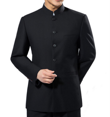 $25.12 • Buy Men Chinese Traditional Coat Jacket Tang Clothes Stand Collar Single Breast Suit