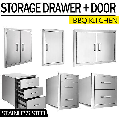 $66.50 • Buy Outdoor Kitchen BBQ Island Components Stainless Steel Access Door And Drawer