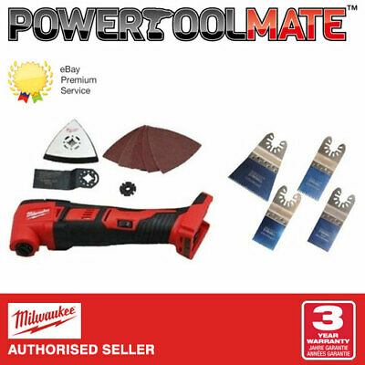 Milwaukee M18BMT-0 18V Compact Multi-Tool (Body Only) &  H4MAK 4 Piece Blade Set • 111.99£
