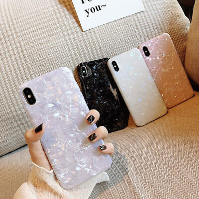 $ CDN4.99 • Buy Marble Case For Samsung Galaxy S9 S8 Plus Shining Shell Cover Soft Silicone Case