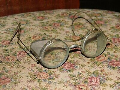 $23.99 • Buy Vintage Antique Wire Mesh Side Protective Glasses Goggles Steampunk
