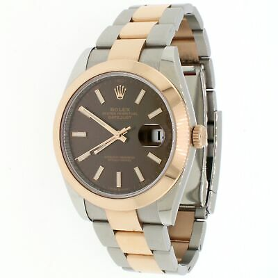 $ CDN15935.41 • Buy Rolex Datejust 41 2-Tone 18K Chocolate Dial Oyster Watch 126333 Box And Papers