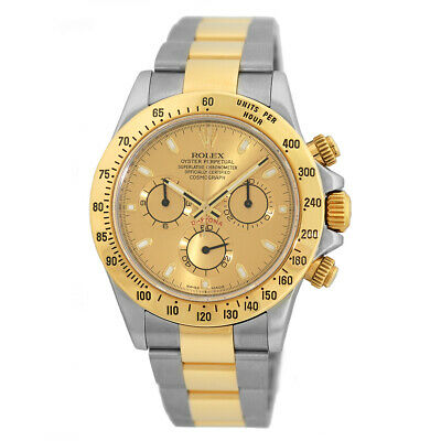 $ CDN21167.30 • Buy ROLEX 18K Yellow Gold Stainless Steel 40mm Daytona Cosmograph 116523 Box MINTY