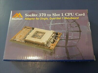 $20 • Buy New-sealed Box Maxtium Socket PPGA 370 To Slot 1 CPU Daughter Adapter Card