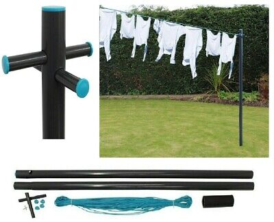 £24.49 • Buy 2.4m/8ft Galvanised Washing Clothes Post Pole 30M PVC Laundry Line Dryer Airer