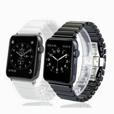 $ CDN23.16 • Buy For Apple Watch Series 5 4 3 2 1 Ceramic Link Wrist Band Strap 38/42/40/44mm