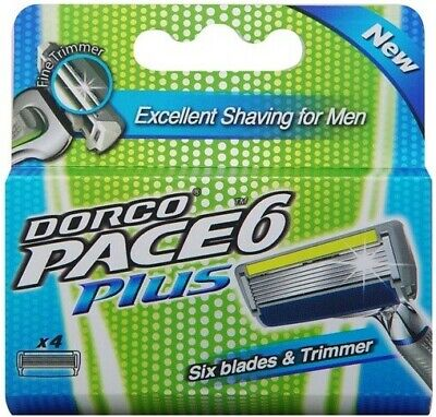 $13.98 • Buy Dorco Pace 6 Plus Six Blade Razor System Trimmer 4 Cartridges FAST SHIPPING