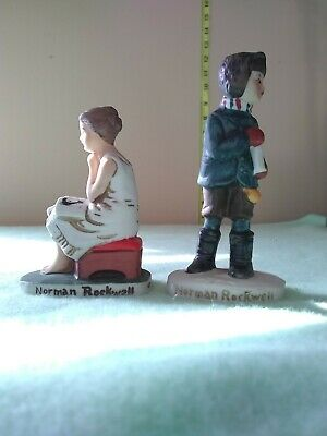 $ CDN13.80 • Buy Two Small 1979 Norman Rockwell Figurines Dave Grossman Design. Vintage