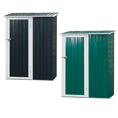 186x143cm Corrugated Steel Garden Shed Outdoor Equipment Storage Sloped Roof • 159.99£
