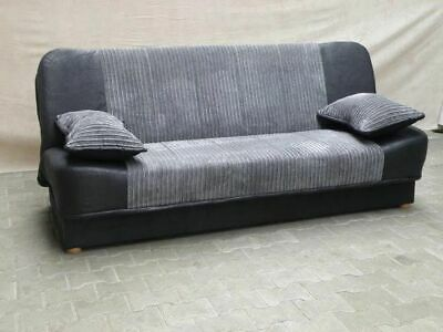 £285 • Buy New Sonia Click Clack Sofa Bed 2 Tone Grey Or Beige , Fabric 3 Seater DOUBLE BED
