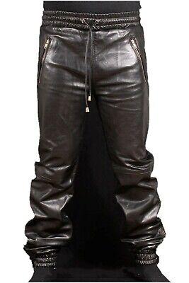 $99 • Buy Genuine Sheep/Lambskin Soft Leather Trouser Draw Pants For Men For Jogging Pants