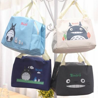 Portable Insulated School Lunch Bag Picnic Thermal Box Case Totoro - UK Seller • 5.99£