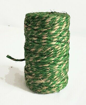 200' Premium Jute Twine String, All-Natural, 3-ply Cord Rope For Crafts & DIY • 6.43£