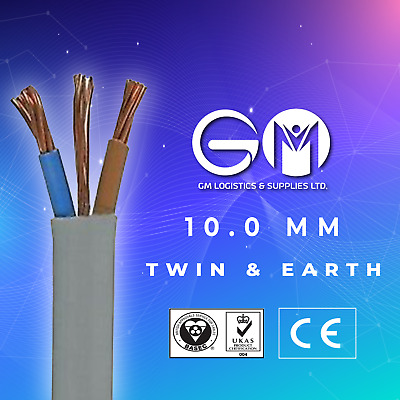 10mm Twin And Earth T&E Electric Cable Wire Domestic High Power Cooker Shower • 5.69£