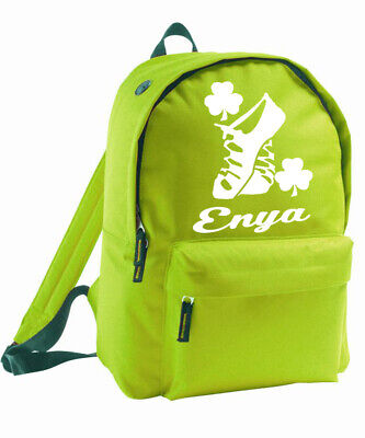 $32.22 • Buy Personalised Irish Dancer Backpack Kit School Bag Dancing Birthday Rucksack