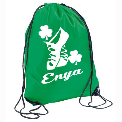 $21.88 • Buy Boys Girls Irish Dancing Personalised Bag Drawstring Backpack Gymsack Kids Name