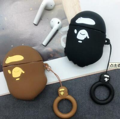 $7.99 • Buy Bape Shark BearBrick A BATHING APE Silicone Case Cover Ring Loop Airpods 1 2