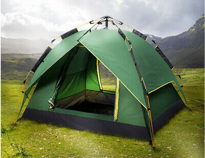 AU64.95 • Buy Automatic Double-Layer Tent For 3-4 Outdoor Camping  Quick Open Multi-function