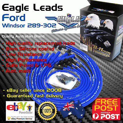 AU59.50 • Buy Eagle 8mm Ignition Spark Plug Leads 8cyl Fits FORD Windsor V8 289-302 Petrol LPG