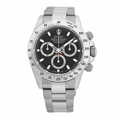 $ CDN26797.61 • Buy ROLEX Stainless Steel 40mm Daytona Cosmograph Black 116520 Warranty 2014 MINTY
