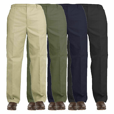 Mens Elasticated Waist Work Casual Rugby Trousers Pants Smart Rugby Trousers  • 10.99£