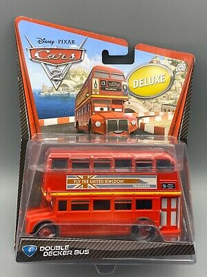 $ CDN38.26 • Buy Disney Pixar Cars 2 Deluxe Double Decker Bus #4 By Mattel Diecast