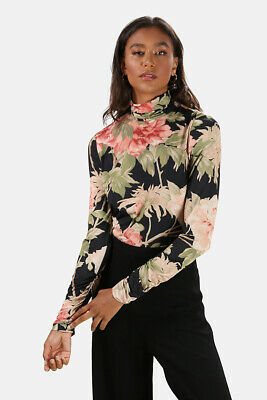 $135 • Buy Zimmermann Espionage Fitted Turtleneck Size 0/XS Black Floral