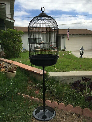 $64.95 • Buy Round Dome Bird Flight Cage W/Stand Finches LoveBird Budgies Canaries Aviaries