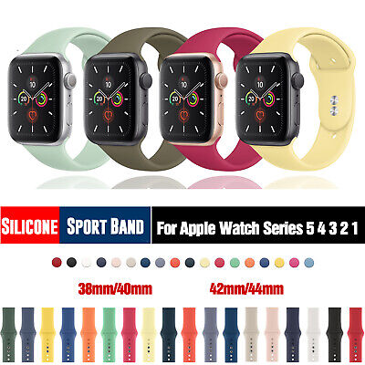 $ CDN5.06 • Buy Silicone Sports Band IWatch Strap Single Buckle For Apple Watch Series 5 4 3 2 1