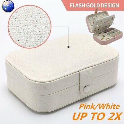 AU14.98 • Buy Jewelry Organizer Case Box Holder Storage Earring Ring Necklace Display Portable