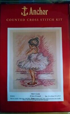 Anchor Ballerina Counted Cross Stitch Kit  • 14.99£