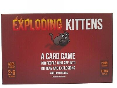 AU48.95 • Buy Exploding Kittens First Edition Card Game Complete With Sealed Cards READ