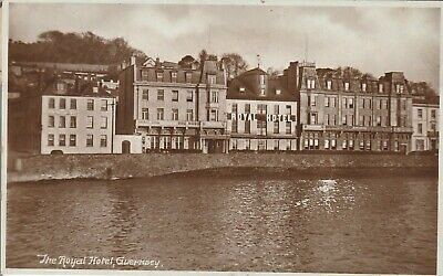 Guernsey The Royal Hotel 1935 Real Photo  Postcard • 2.99£