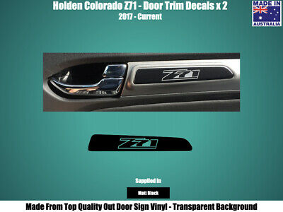 AU5.95 • Buy HOLDEN COLORADO Z71 - DOOR TRIM DECALS STICKERS X 2