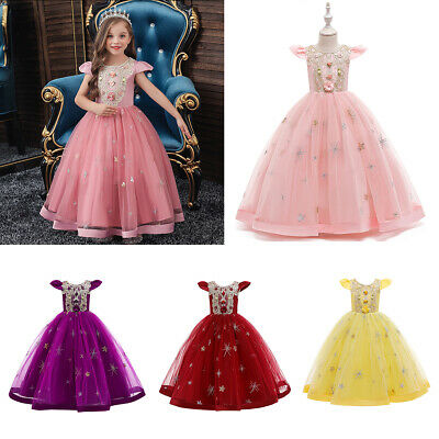 £24.18 • Buy Kids Girls Princess Dress Costume Formal Pageant Party Birthday Dress Ball Gown