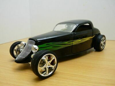 AU94.10 • Buy HOT ROD FORD COUPE 1933 Noir & Flamming 1/18