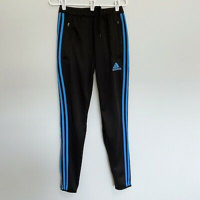$ CDN30 • Buy Men's Adidas Black Track Pants With Blue Stripes Size Small