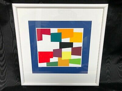 $599.99 • Buy Yaacov Agam  Plastic Fusion  Limited Edition Print, Signed & Numbered, Framed