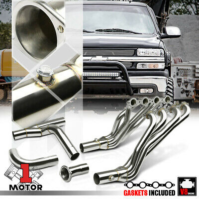 $216.68 • Buy SS Long Tube Exhaust Header Manifold+Y-Pipe For 02-06 Chevy/GMC GMT800 4.8/5.3