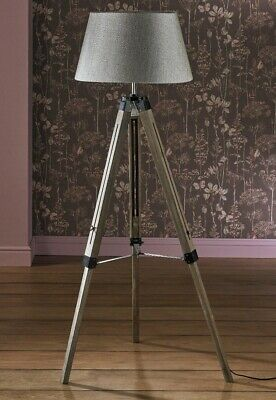 """New Large Wooden Tripod Lamp 55"""" Mains Operated  • 59.99£"""